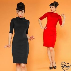 NWT Heartbreaker Super Spy Rockabilly Pencil Dress